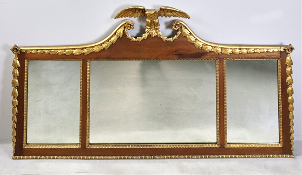 Federal Mirror in Gilt Frame with Eagle
