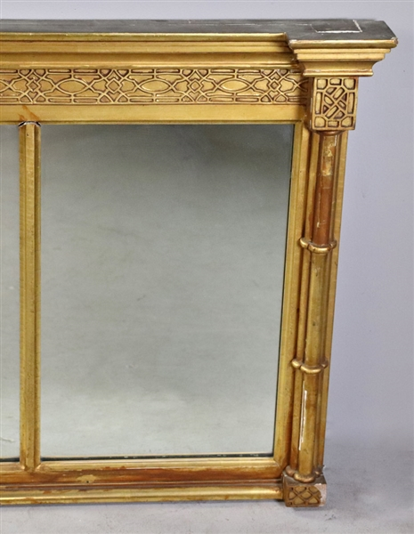 Mid to Late 19thC Gilt Mantel Mirror