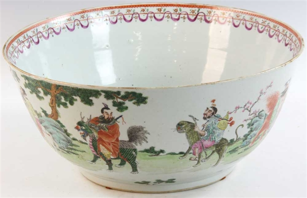 19thC Chinese Export Center Bowl