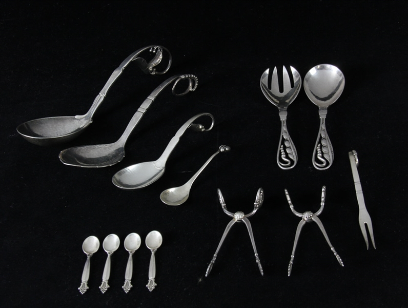 Collection of Georg Jensen Sterling Pieces