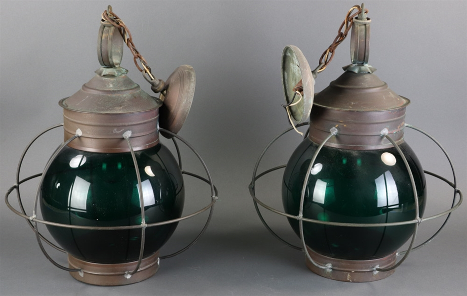 Pair of Brass Ships Lanterns