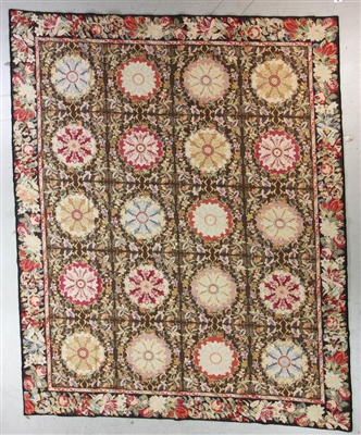Semi Antique Aubusson Needlepoint Rug