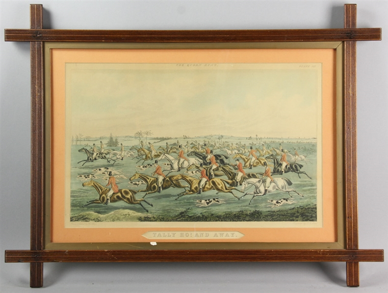 Four Henry Alken Hunting Prints, The Quorn Hunt