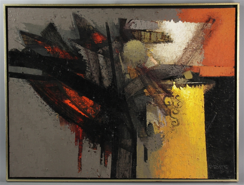 Ramon Prats, Oil on Board, Abstract