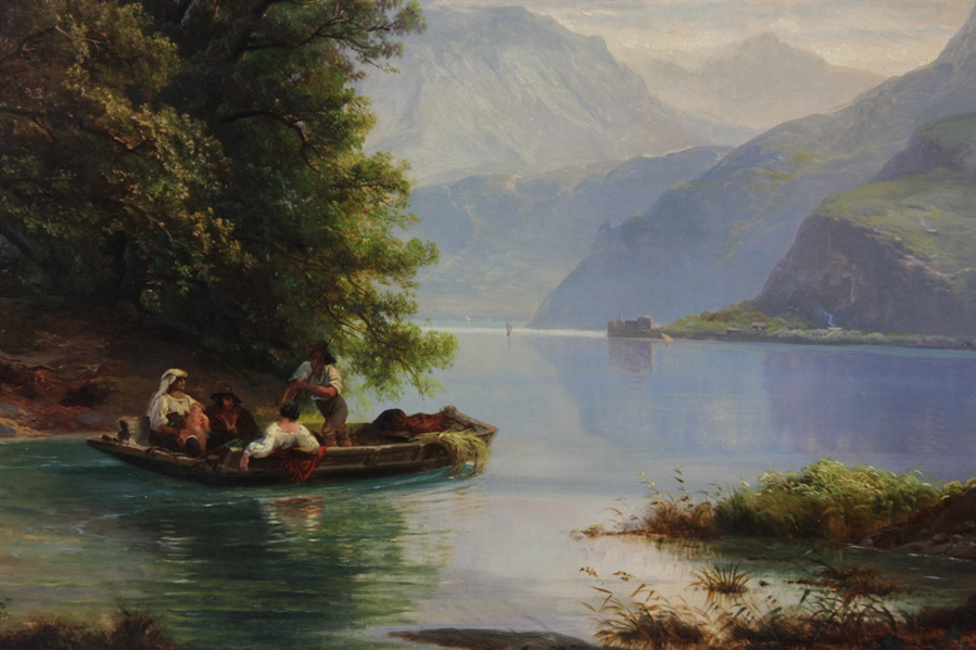 Sanford Robinson Gifford Attributed Oil on Canvas