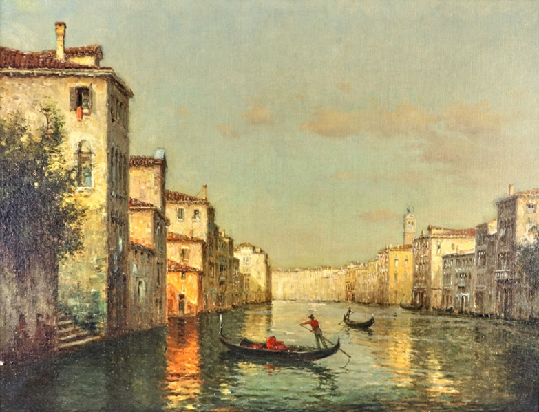 Antoine Bouvard, Oil on Canvas, Grand Canal