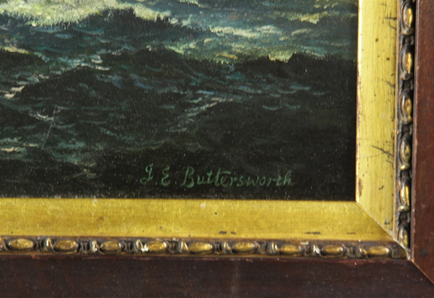 Oil on Board, Bears Signature J.E. Buttersworth