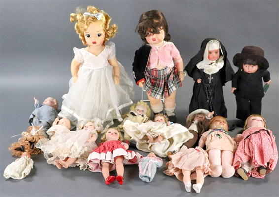 Collection of Vintage Dolls and Doll Clothing