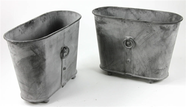 Pair of Oval Georgian Style Metal Planters