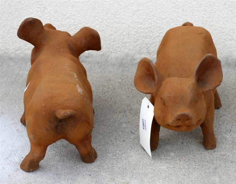 Pair of Cast Iron Pigs