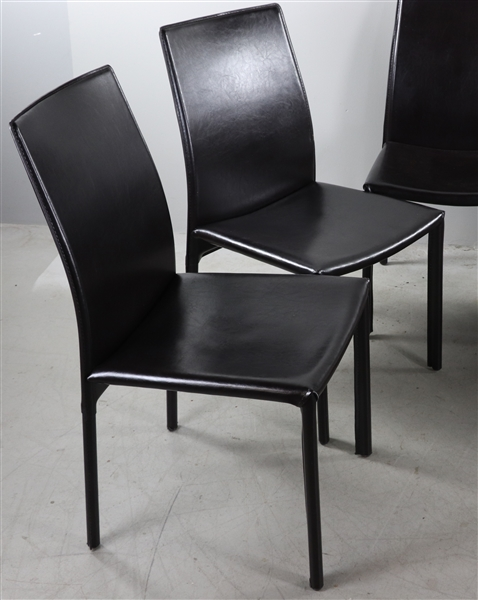 Six Italian Style Leather Chairs