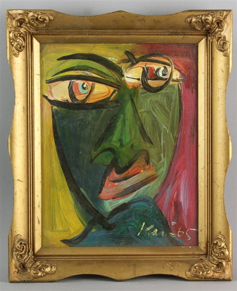 Peter Keil, Two Paintings, Colorful Faces