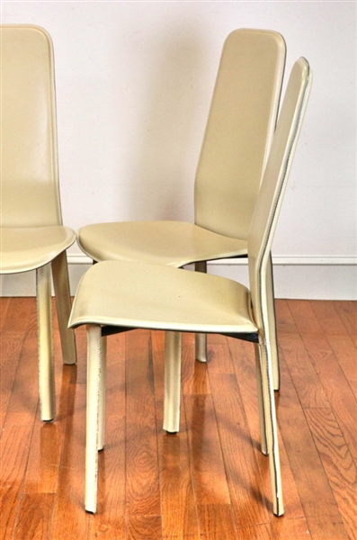 Set of Six Italian Modern Dining Chairs