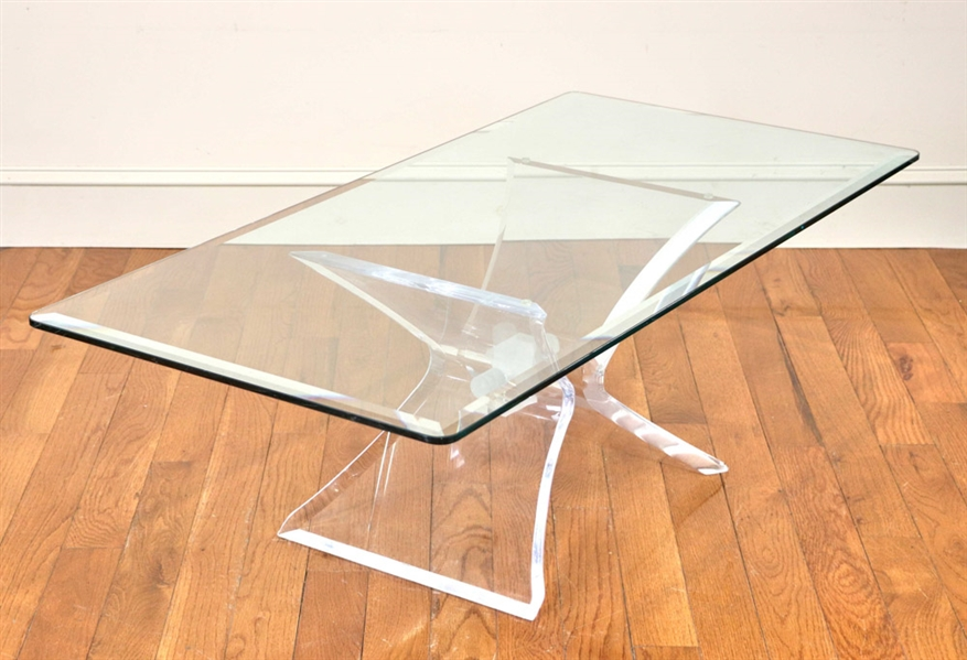 Vintage Lucite Cocktail Table