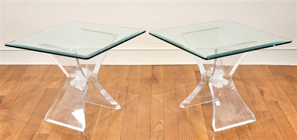 Pair of Vintage Lucite Occasional Tables