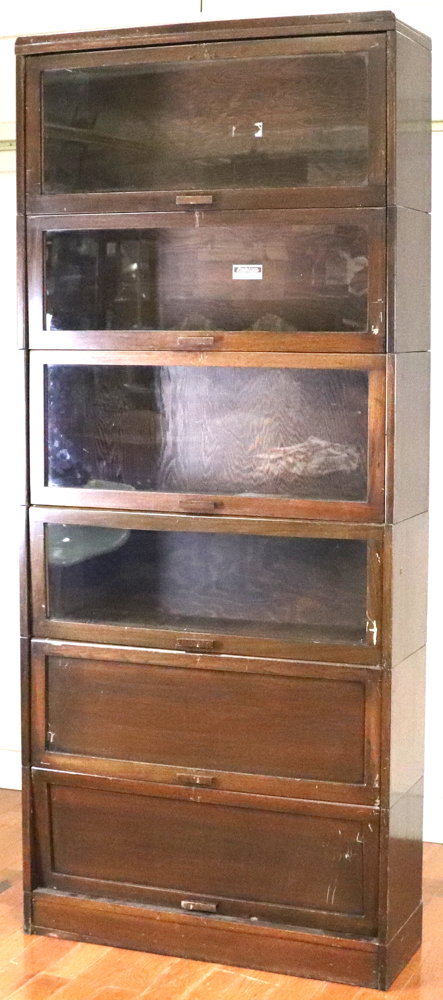Lot Detail Lundstrom Mahogany Stacking Bookcase