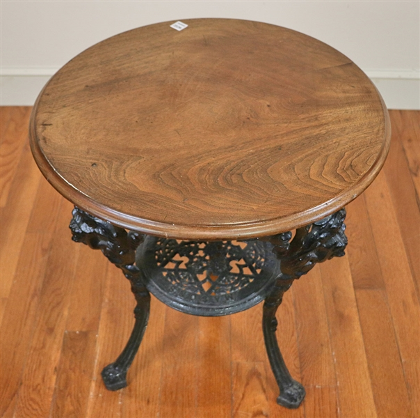 Round Pub Table with Iron Base
