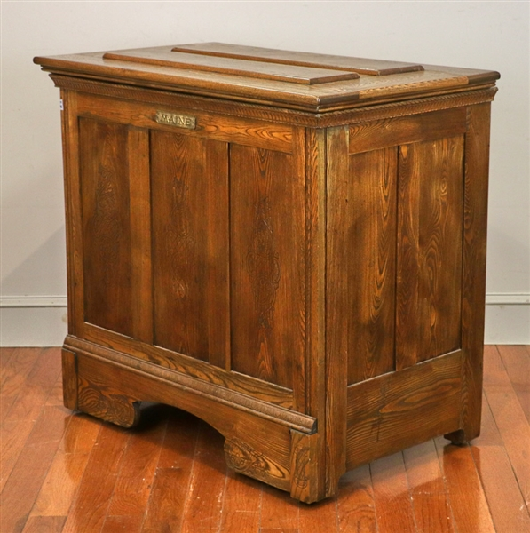 19th C Maine Ice Chest Converted to Cedar Chest