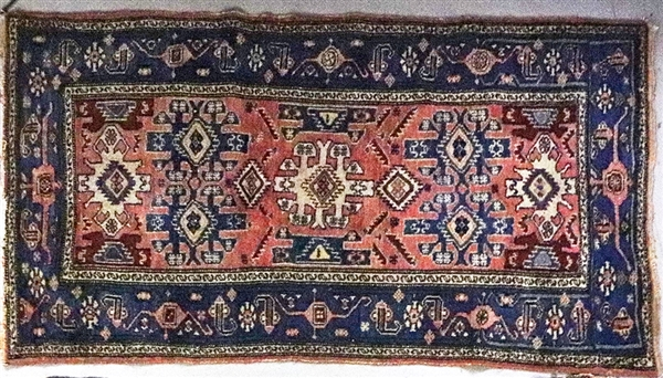 Two Antique Persian Hamadan Rugs