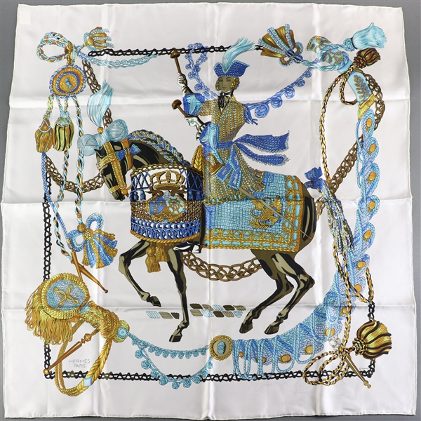 Hermes Scarf, Aristocrat on Charger