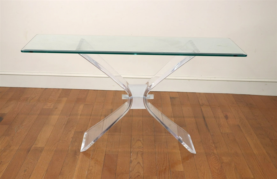 Vintage Lucite Foyer Table
