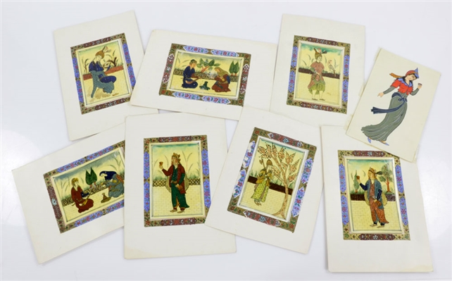 Collection of Eight Persian Paintings