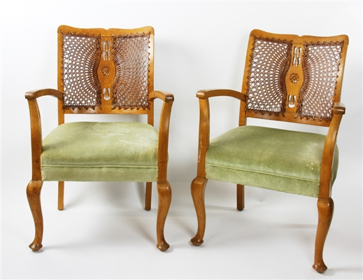 Pair of Hand Crafted Armchairs