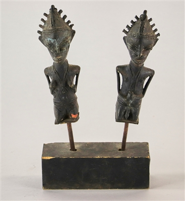 Pair of Early Iron Fertility Figures