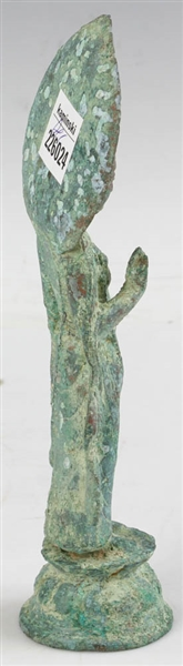 Ancient Chinese Bronze Guanyin Figure