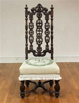 Spanish Carved Walnut Chair
