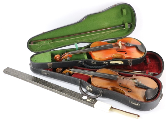 Group of Violins and Bows