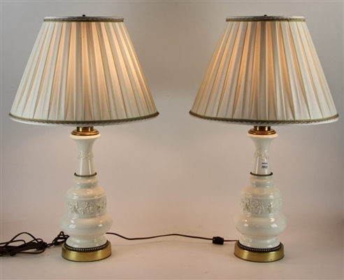 Pair of French Style Blanc de Chine Lamps