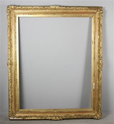 Large Gilt Wood and Gesso Picture Frame