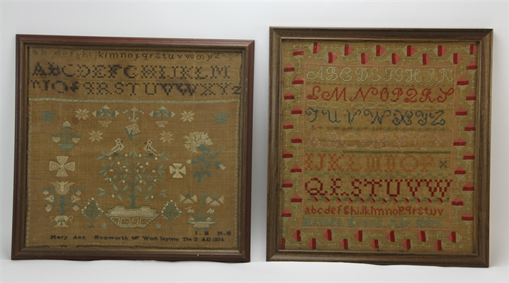 Two 19th Century Signed Samplers