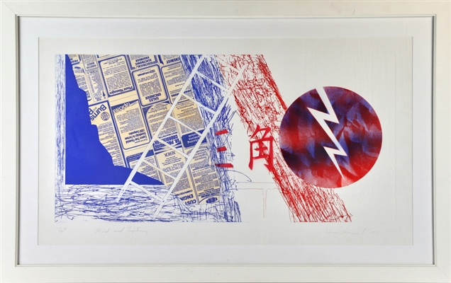 James Rosenquist, Wind and Lightning, Print