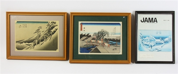 Group of (10) Japanese Woodblock Prints