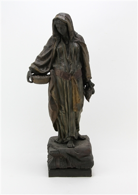 19th C Figure of Arabian Women Signed Mekou