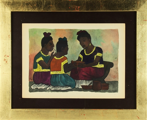 Diego Rivera, Three Women, Lithograph