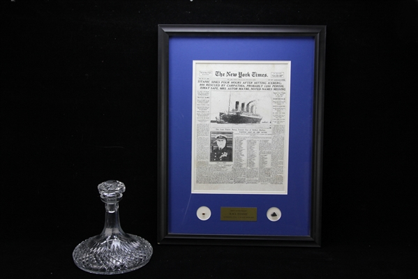 Framed Fragments from RMS Titanic