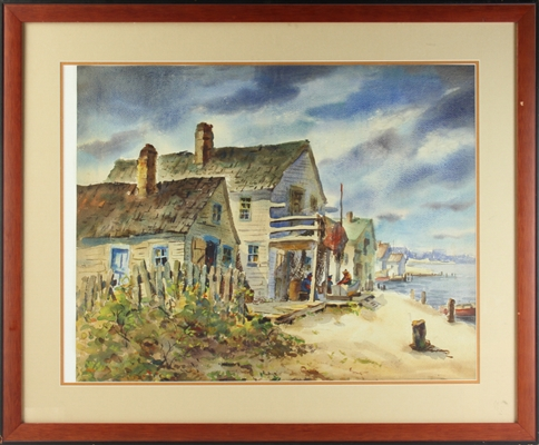 Henry Gasser, New Jersey Shore, Watercolor