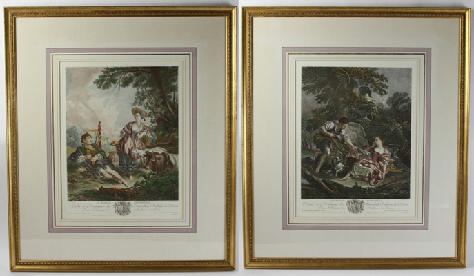 Pair of French Framed Prints