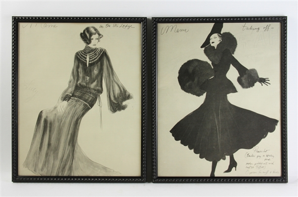 Pair of Antique Fashion Prints