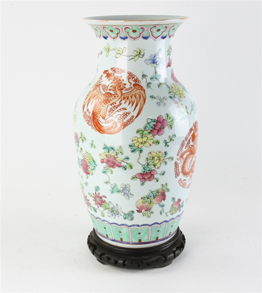 Chinese Republic Period Vase with Stand