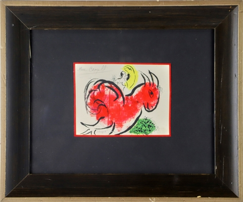 Marc Chagall Hand Colored Print