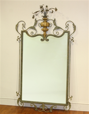 Mirror in Decorative Wrought Iron Frame