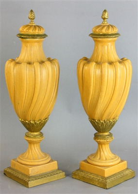 Pair of French Style Decorative Urns