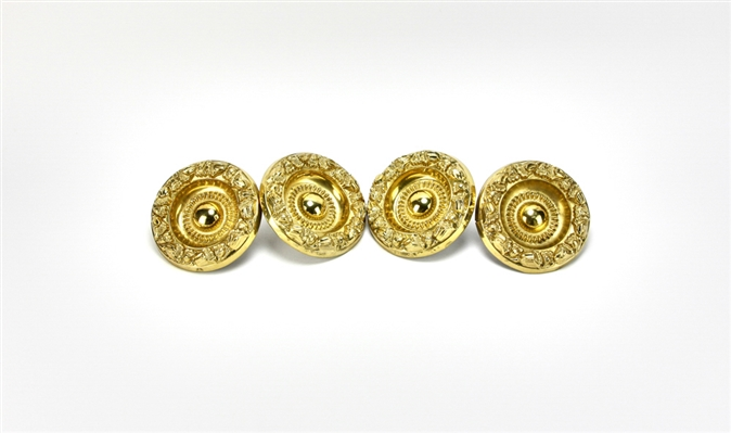 (4) 19thC Gilt Brass Curtain Tiebacks