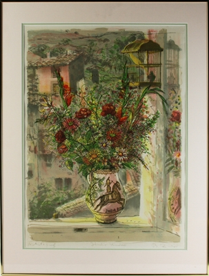 Bruno Zupan, Studio Window, Lithograph