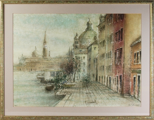 Bruno Zupan, Venice October Morning, Lithograph