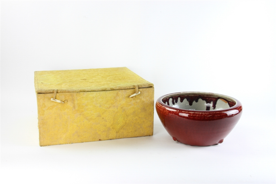 Chinese Oxblood Bowl